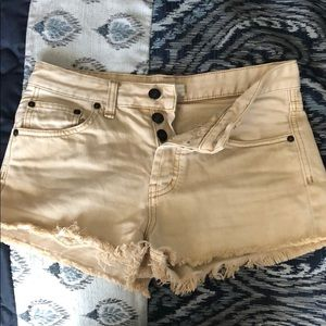 Free people tan shorts